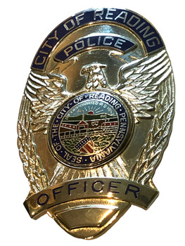 READING PENSYLVANIA POLICE OFFICER BADGE