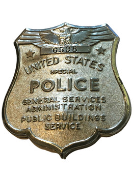 GSA US SPECIAL POLICE PUBLIC BUILDINGS SERVICE BADGE RARE
