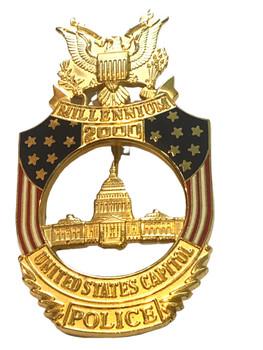 US CAPITOL POLICE MILLENNIUM BADGE  WHITE HOUSE