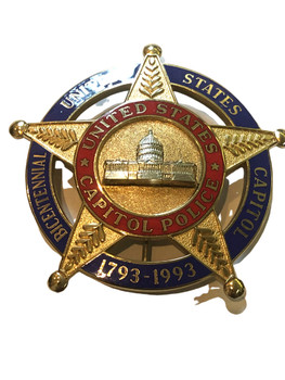 US CAPITOL POLICE BICENTENNIAL  BADGE  WHITE HOUSE