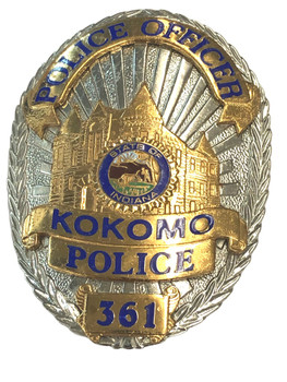 KOKOMO POLICE IN BADGE
