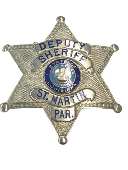 ST. MARTIN PARISH LA STAR BADGE