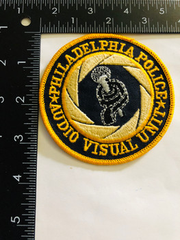 PHILADELPHIA POLICE AUDIO VISUAL UNIT PATCH RARE