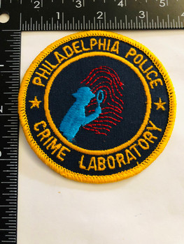 PHILADELPHIA POLICE  CRIME LAB UNIT PATCH