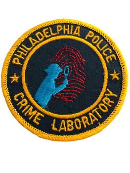 PHILADELPHIA POLICE  CRIME LAB UNIT PATCH
