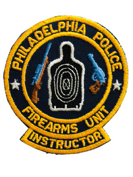 PHILADELPHIA POLICE   FIREARMS UNIT INSTRUCTOR PATCH