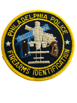 PHILADELPHIA POLICE   FIREARMS ID UNIT INSTRUCTOR PATCH