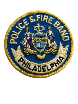 PHILADELPHIA POLICE & FIRE BAND  PATCH