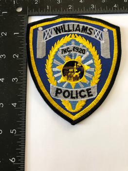 WILLIAMS POLICE CA PATCH RARE