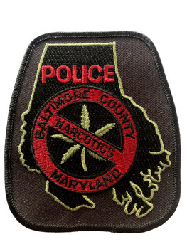 BALITMORE COUNTY NARCOTIC SQUAD MD PATCH RARE