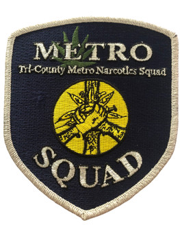 METRO TRI-COUNTRY NARCOTIC SQUAD PATCH RARE