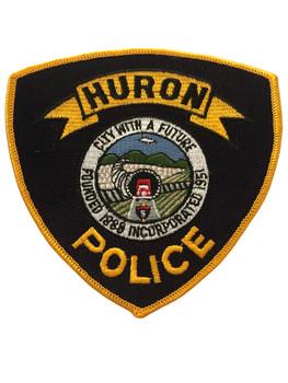 HURON POLICE CA POLICE PATCH #1 RARE