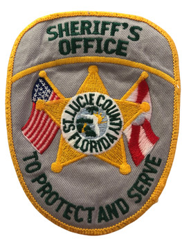 ST. LUCIE CTY SHERIFF  FL OLD SCHOOL PATCH RARE