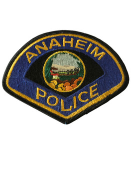 ANAHEIM   POLICE CA PATCH