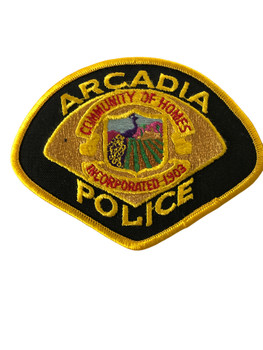 ARCADIA   POLICE CA PATCH