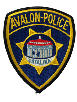 AVALON POLICE CA PATCH