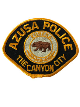 AZUSA  POLICE CA PATCH