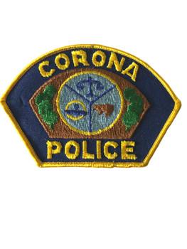CORONA   POLICE CA PATCH