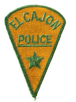 EL CAJON POLICE CA  PATCH