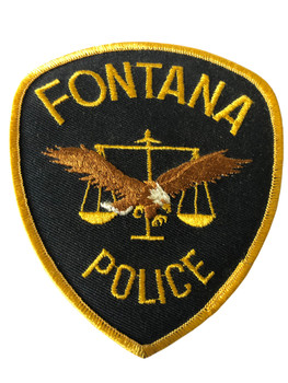 FONTANA POLICE CA  PATCH