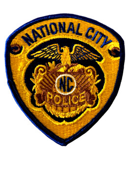 NATIONAL CITY  POLICE CA PATCH