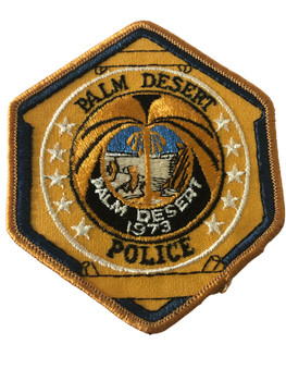 PALM DESERT  POLICE CA PATCH