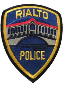 RIALTO POLICE CA PATCH