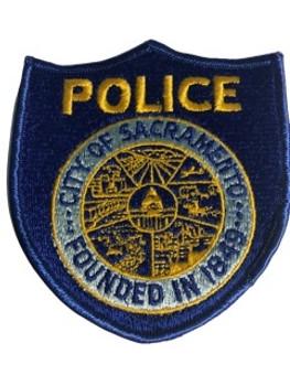 SACRAMENTO POLICE CA PATCH