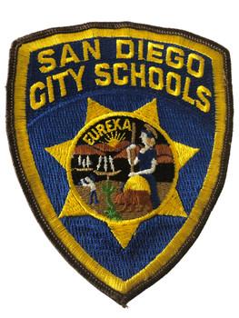 SAN DIEGO CITY SCHOOLS  POLICE CA PATCH