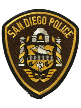 SAN DIEGO  POLICE CA PATCH BROWN