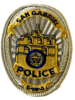 SAN GABRIEL  POLICE CA PATCH