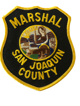 SAN JOAQUIN COUNTY MARSHAL  POLICE CA PATCH
