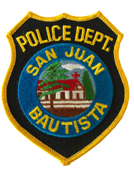 SAN JUAN BAUTISTA  POLICE CA PATCH