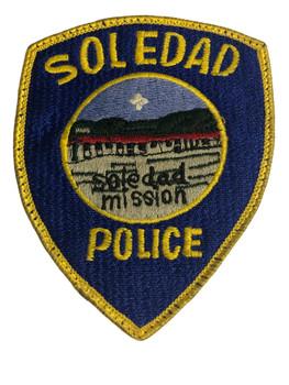 SOLEDAD POLICE CA PATCH