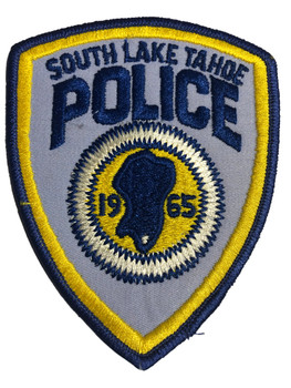 SOUTH LAKE TAHOE  POLICE CA PATCH