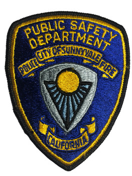 SUNNYVALE DEPT. OF PUBLIC SAFETY POLICE CA PATCH