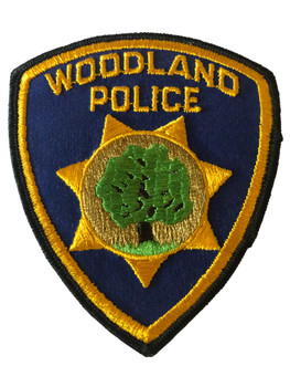 WOODLAND  POLICE CA PATCH