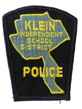 KLEIN SCHOOL DISTRICT   TX POLICE PATCH