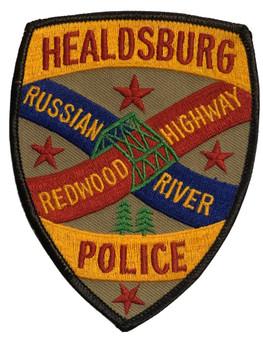 HEALDSBURG  POLICE CA PATCH