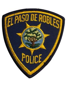 EL PASO DE ROBLES  POLICE CA PATCH