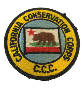 CALIFORNIA CONSERVATION CORPS CA PATCH RARE