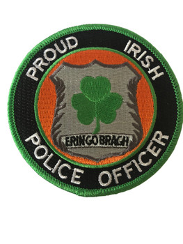 PROUD IRISH POLICE OFFICER  PATCH