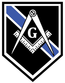 MASONIC BLUELINE PLAQUE