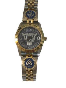 K-9 FACE & SERGEANT STRIPS LOGO WATCH