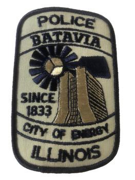BATAVIA  POLICE IL PATCH
