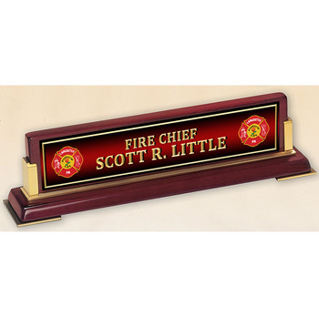 VERTICAL FIRE NAME PLATE