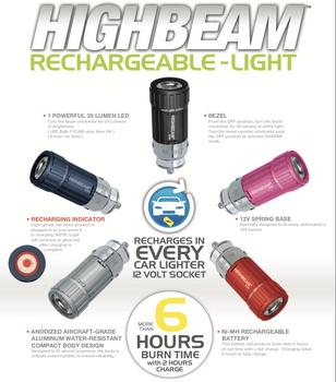 STOCKING STUFFER HIGHBEAM Rechargeable LED Flashlight