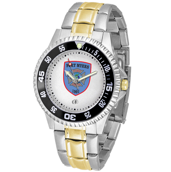 COMPETITOR MENS FIRE TWO-TONE WATCH