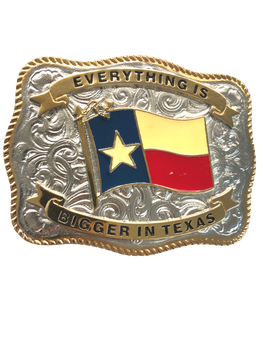 STATE OF TEXAS FLAG TWO TONE BUCKLE