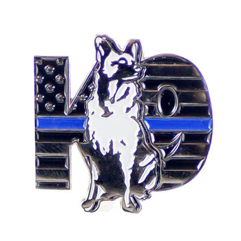 THIN BLUE LINE K9 DOG PIN